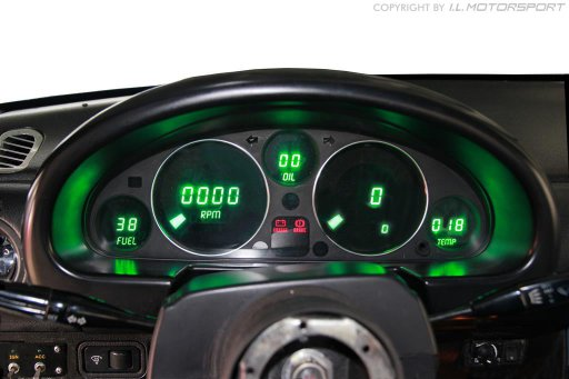 NA0-301205 - MX-5 Digital Instrument Dashboard Grün Kph - 1
