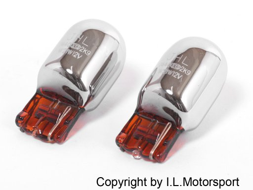 NB2-705198CH-2 - MX-5 Blinker Lampe / Birne Glassockel 21W chrom-gelb im Set - 1