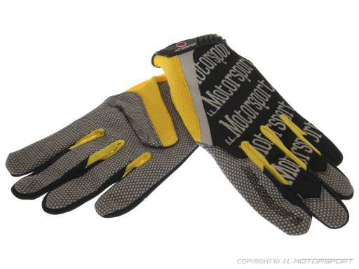 ZUB-1024-L - MX-5 Mechanic Gloves Yellow/Black Large I.L.Motorsport