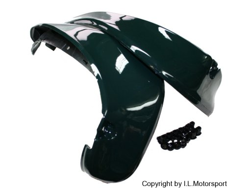 MX-5 Mud Guards Set Rear Mk1 painted -  green / HU