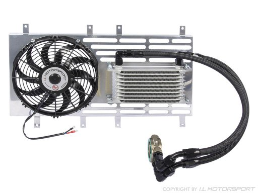 MX-5 oil cooler set with Spal fan without thermostat