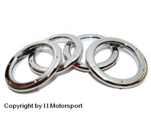 MX-5 ventilation nozzle rings TT style - Messing chromed