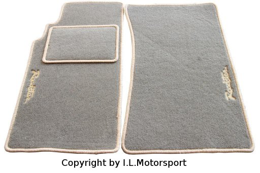 MX-5 Floor Mats Beige Roadster Logo