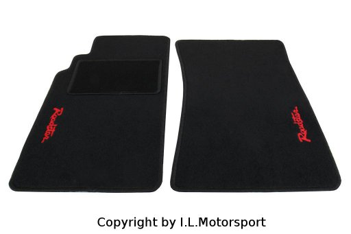 MX-5 Floor Mats Red Roadster Logo