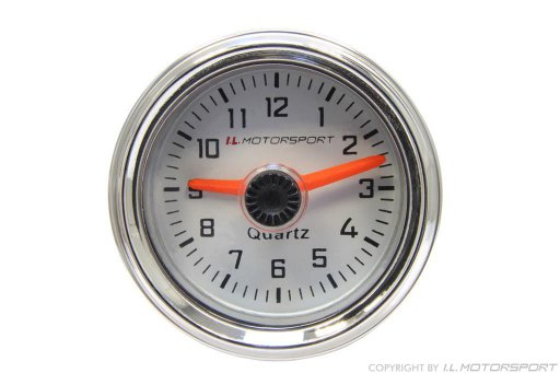 MX-5 Clock Ø 52mm White With Chromed Ring I.L.Motorsport