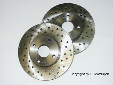 MX-5 Perforated Brake Disc Set Zimmerman