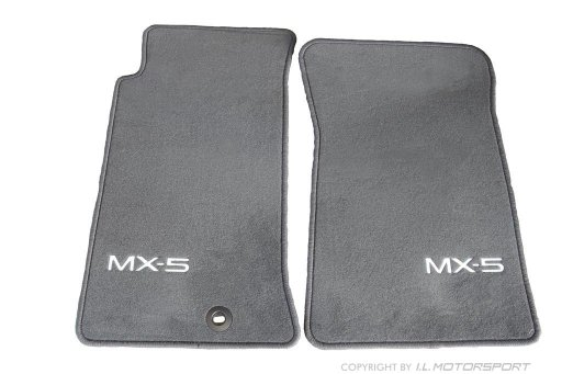 MX-5 Mazda Floor Mat Set Luxury Dark Grey