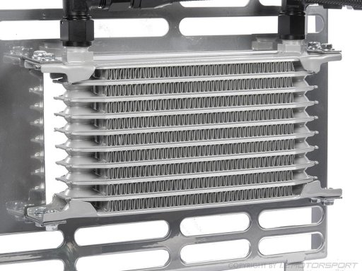 MX-5 Thermostat controlled oil cooler set with Spal fan