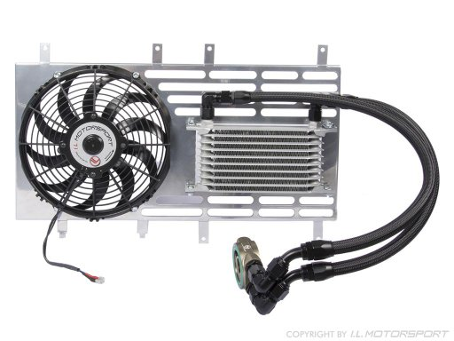 MX-5 oil cooler set with Spal fan without thermostat, all MK2 models