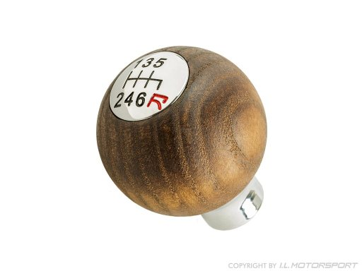 MX-5 IL Motorsport Shift Knob Round Ash 6-Speed, Chrome
