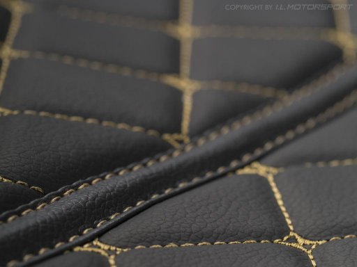 MX-5 Quilted Carpet Mat Set Black & Gold Stitching