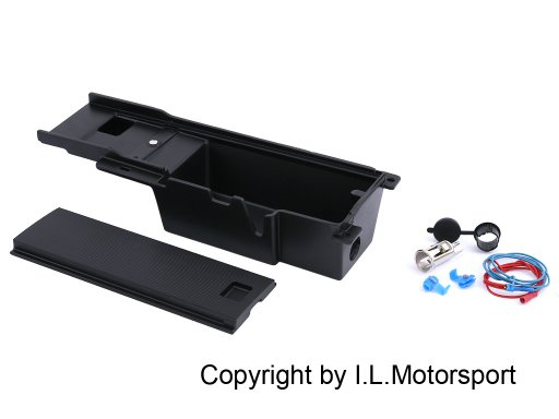 MX-5 Enlarged Center Console Insert & 12 Volt Black
