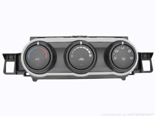 MX-5 Heater Control Surround Silver I.L.Motorsport