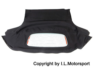 MX-5 Black Mohair Hood With Glass Window