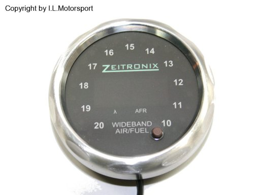 MX-5 ZR-2 Multi Gauge Silver Ring Red Dial Zeitronix