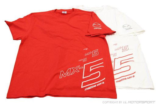 MX-5 T-Shirt Short Arm Womens Design white Medium