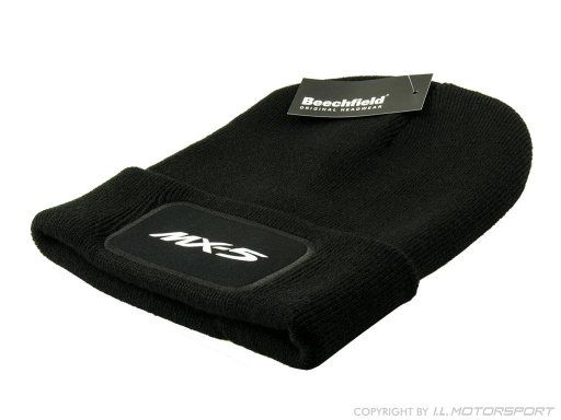 MX-5 Beechfield Original Patch Beanie -black- with MX-5 print