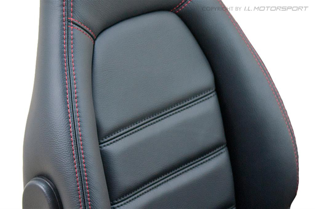 black leather seat covers with red stitching velcromag. Black Bedroom Furniture Sets. Home Design Ideas