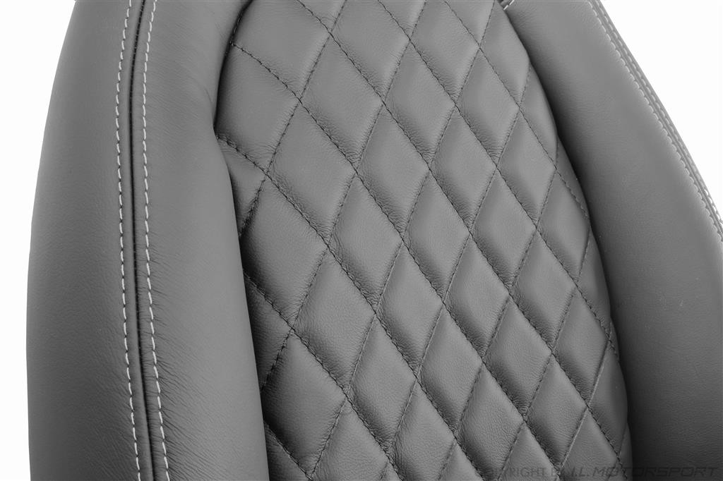 Mx 5 Leather Seat Covers Set Of Two Black Silver With
