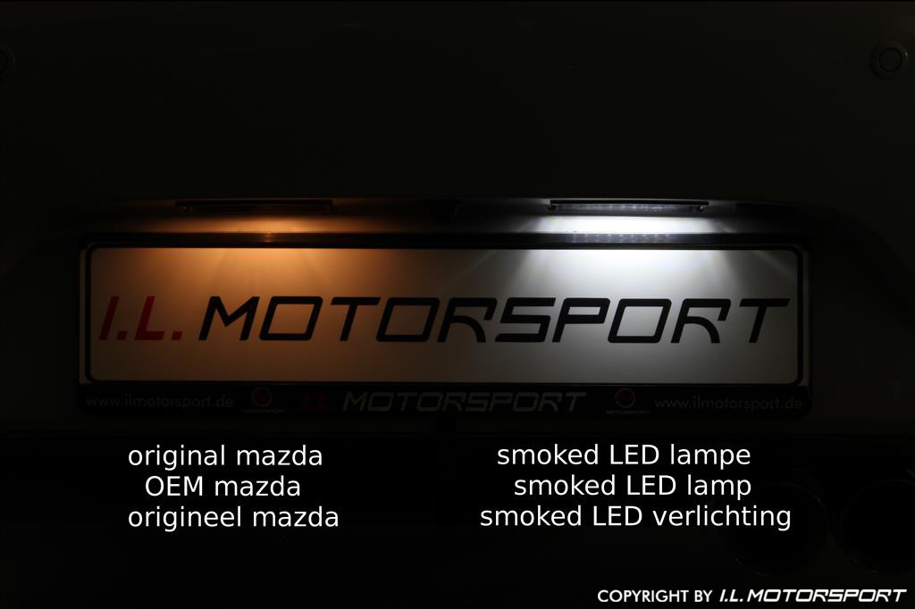 ND0-1557 - MX-5 Smoked LED Kenteken Plaat Verlichting Set - 7