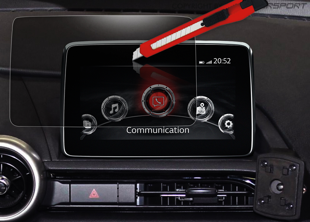 ND0-301256 - MX-5 Screenprotector Voor MZD Connect Infotainment - 10